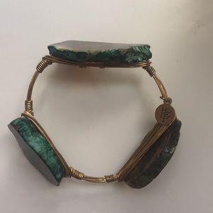 BB Turquoise Stone Slab Wire Bracelet